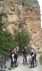 salida por el cañón del Turia, cerca de Domeño pincha Lorenzo